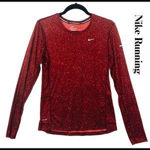 Nike Miler Women's Running Long Sleeve Shirt Sz M